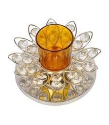 HND00310 Indian Traditional Crystal candle Holder Home Deocr