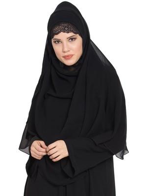 Black Georgette Ready To Wear-Instant Hijabs