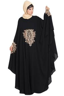 7d433dc0cd0b Black Nida Embroidered Irani kaftan Abaya · Shop Now