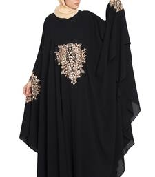 Black Nida Embroidered Irani Kaftan Abaya