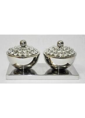 HND00330 Ethnic Indian Lalhaveli Designer Home Decorative Crystal Bowls