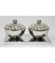 HND00330 Ethnic Indian Lalhaveli Designer Home Decorative Crystal Bowls other-home-accessory