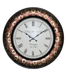 HND00430 Lalhaveli Indian Antique Home Decorative Wall Hanging clock