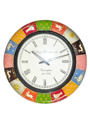 HND00441 Traditional Home Decorative Indian Designer Wall clock