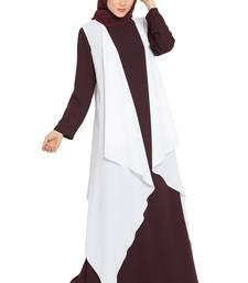 Off White AIDA Sleeveless Free Size Shrug For Any Abaya