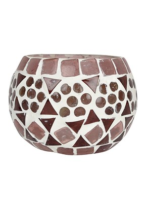 Mosaic Glass Tealight Votive candle Holder 3 Inch