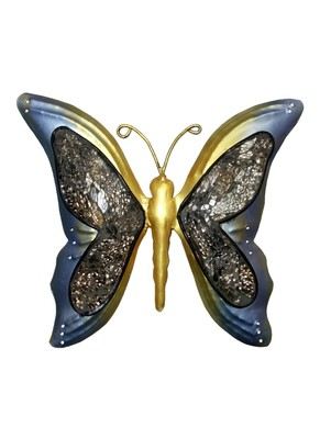 Lal Haveli Wrought Iron Butterfly Wall Decoration in Living Room 9 X 10 inches