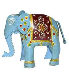 Lal Haveli Home Decor Handcrafted Iron Elephant Sculpture & Elephant Figurines 4 X 5 X 1.5 inches
