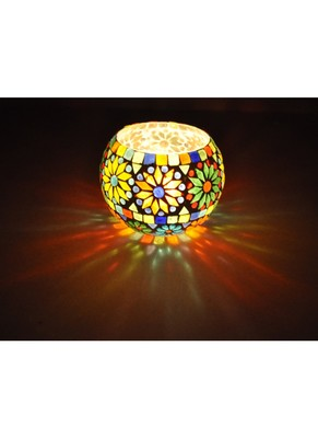 Lal Haveli Handcrafted Indian Work Design Flower Pot & Diwali candle Holders 5 inches