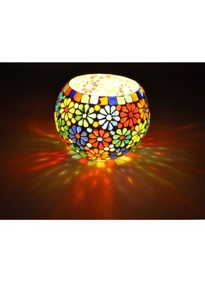 Traditional Mosaic Mini Plant Holder & Votive Diwali candle Holders 5 Inches