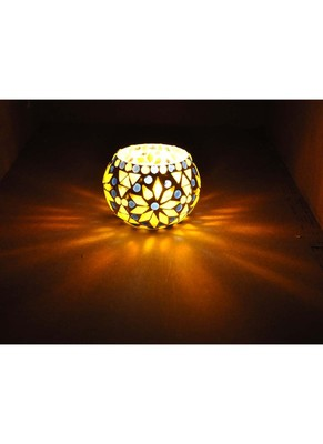 Ethnic Round candle Holder For Diwali 3 Inches