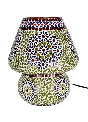 Jaipuri Handmade Glass Table lamp Electrics 12 X 11 Inches