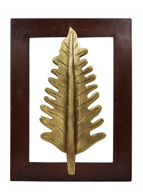 Vintage Handmade Wooden Leaf Wall Decorations 15 X 11 Inches