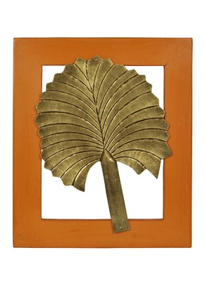 Lalhaveli Handmade Work Design Wooden Leaves Wall Decoration 13 X 11 Inches