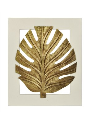 Handcrafted Wall Decor Palm Leaves Decorations Frame 13 X 11 Inches