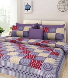 Cotton Print Queen Size Cotton Bedding Bedsheet With 2 Pillow Cover 90 X 108 inches Bedspread