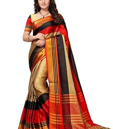 Buy Red woven cotton silk saree with blouse cotton-silk-saree online