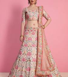 Baby Pink Art Silk Embroidered Lehenga With Dupatta