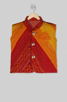 Multicolor printed cotton boys nehru jacket