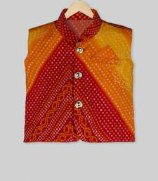 Multicolor printed cotton boys nehru jacket