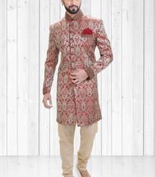 Multicolour jacquard hand_woven indo-western-dresses