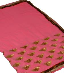 Buy pink georgette saree with out blouse all-seasons-saree online