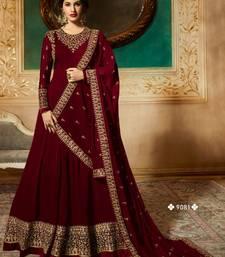 Georgette Embroidered Semi-stitched Anarkali Salwar Suit Dupatta Material