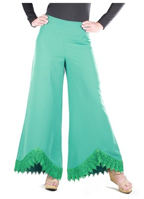 MyBatua Ateefa Light Green Palazzo islamic pants