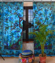Indian Mandala Curtains Set Decorative Indian Tree of life Tie Dye Tapestry Hook Curtains Mandala Curtains