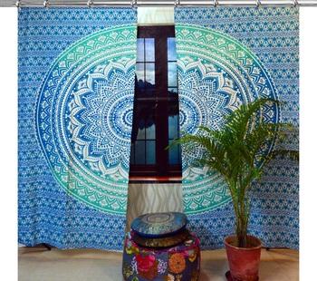 Indian Mandala Curtains Set Decorative Indian Tapestry Hook Curtains Mandala Curtains for Living room