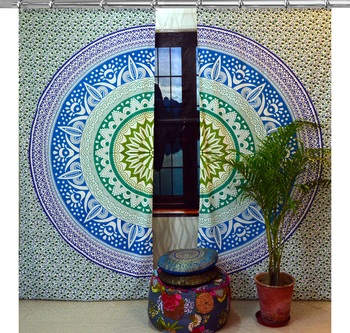 Indian Hook Curtain Mandala Curtains, Include 2 Panel Set Mandala Curtain, Drapes & Valances, Window Treatment Curtain