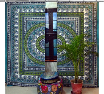 Mandala Window Hook Curtains Indian Drape Balcony Room Decor Curtain Boho Set Ethnic Window Treatments & Panels Set