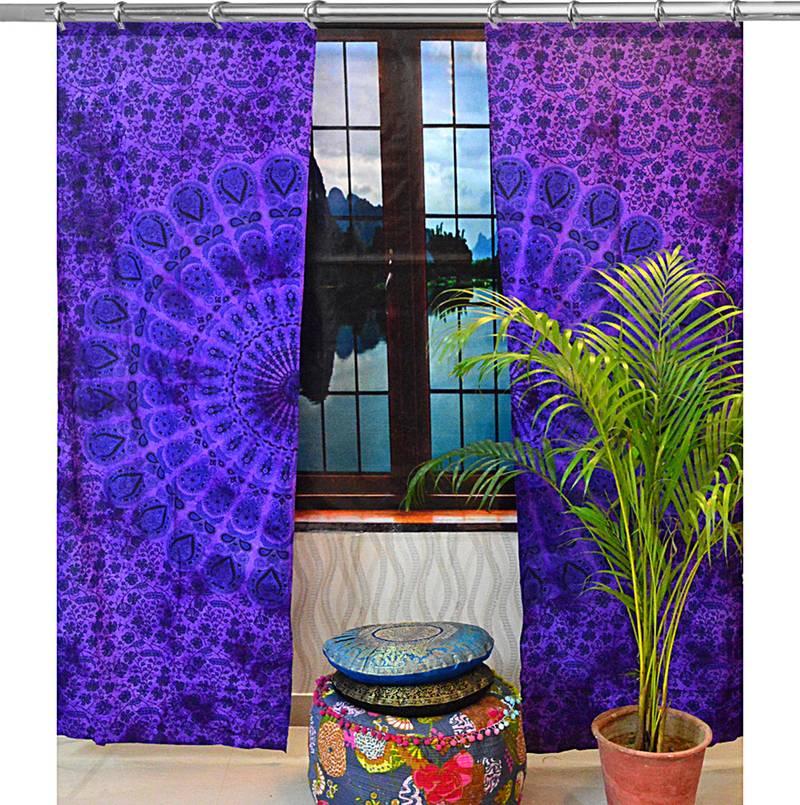 Indian Mandala Curtains Set Decorative Indian Tapestry ...
