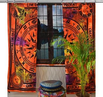 Indian Hook Curtain Mandala Curtains, Include 2 Panel Set Mandala Curtain, Tapestry, Drapes & Valances, Window Treatment