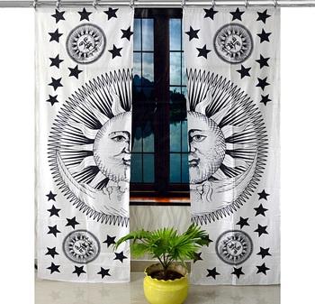 Hook Curtain Mandala Curtains, Include 2 Panel Set Mandala Curtain, Tapestry, Drapes & Valances, Window Treatmen
