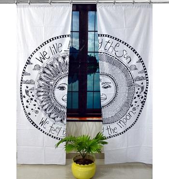 Mandala Hook Curtains Set Decorative Indian Hook Curtains Mandala Curtains for Bedroom
