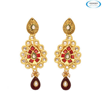 Vendee Fashion Gold Plated Earrings Jewe