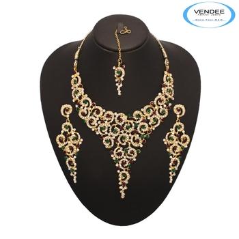 Vendee Fashion Bridal Wear Necklace Jewe