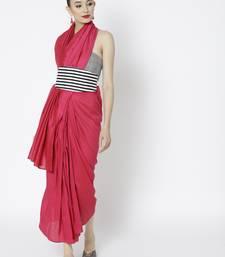 Pink Ready To Wear Saree Silk Blend saree