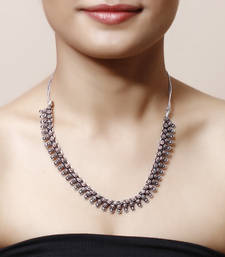 Buy German Silver Chotti Hasli Necklace Necklace online
