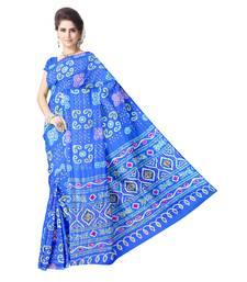 Kala Sanskruti Women's Sky Blue Pure Gaji Silk Embellished Bandhej Designer Saree