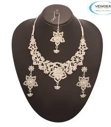 Buy Vendee Fashion Fabulous Party Wear Neckl necklace-set online