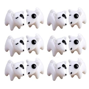 Classic White Toy Puppy Garden Decor Showpiece Set Of 12