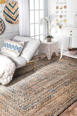 Indian Braided Floor Handmade Vintage Traditional Indian Rugs Home Living Decor Rugs Reversible Beautiful Carpet Rug