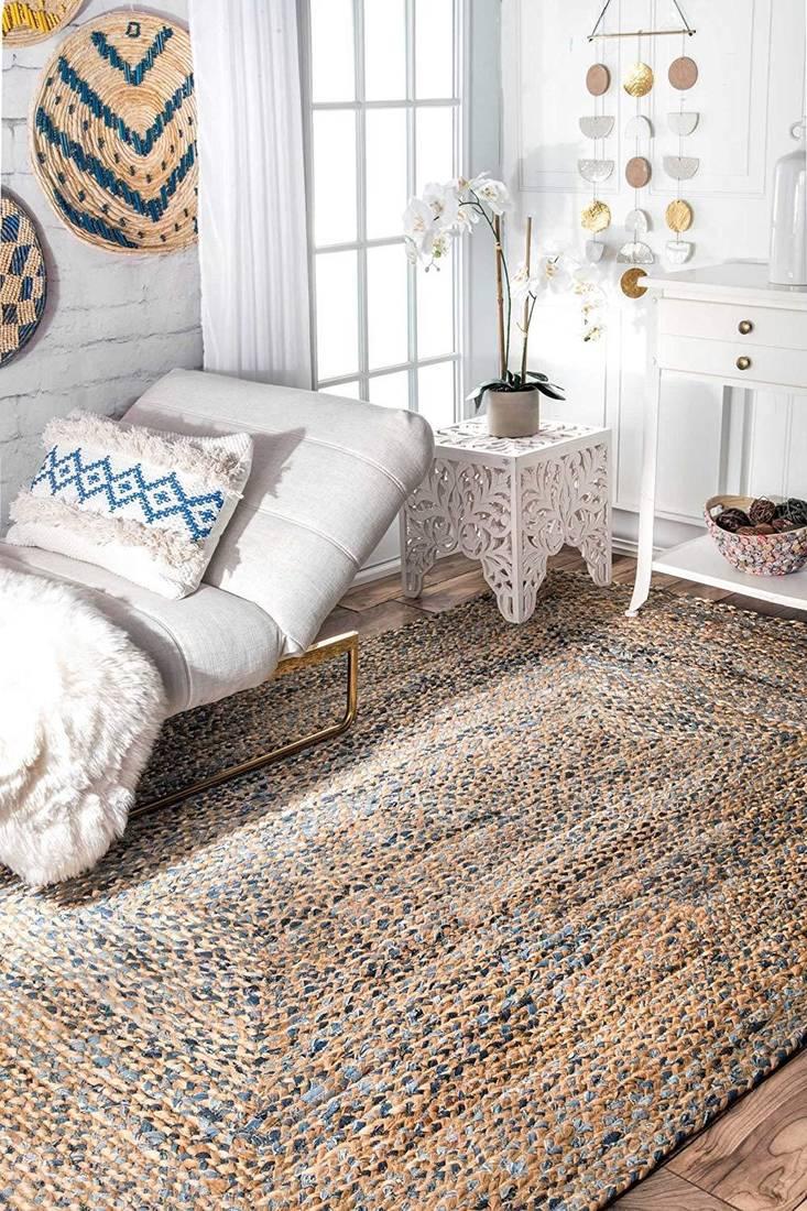 Indian Braided Floor Handmade Vintage Traditional Indian Rugs