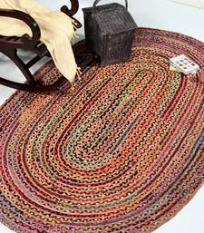 Indian Braided Rug Handmade Jute Rug, Natural Jute Oval Rug Indian Handwoven Ribbed Solid Area Rugs, Beautiful Floor