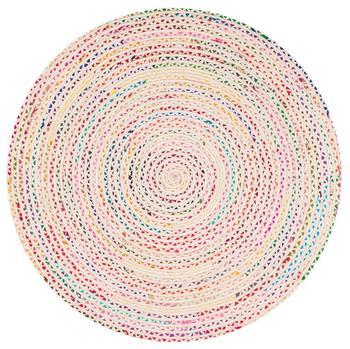 Indian Braided Floor Rug Handmade Jute Rug, Natural Jute Rectangle Rug Indian Handmade Handwoven Ribbed Solid Area Rugs
