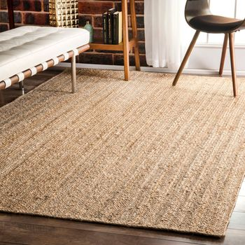 Indian Natural Jute braided Bohemian Rag Rug, runner rug, home decor rug, handmade, Indian braided floor, Rectangle rug