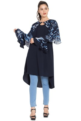 Blue plain nida islamic tunics