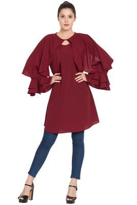 Maroon plain nida islamic tunics
